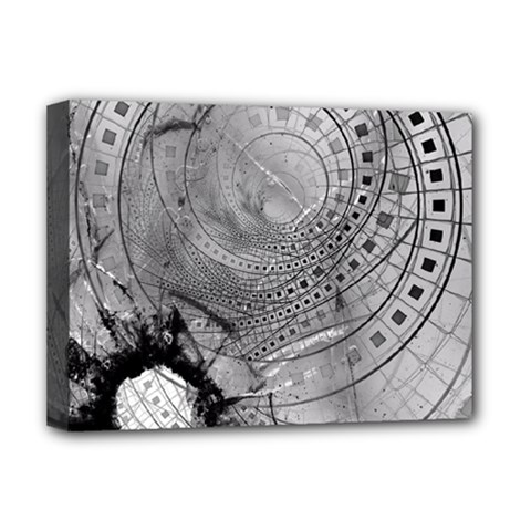 Fragmented Fractal Memories And Gunpowder Glass Deluxe Canvas 16  X 12   by beautifulfractals