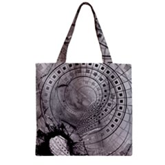 Fragmented Fractal Memories And Gunpowder Glass Zipper Grocery Tote Bag by beautifulfractals