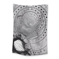Fragmented Fractal Memories And Gunpowder Glass Small Tapestry by beautifulfractals