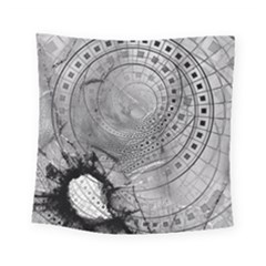 Fragmented Fractal Memories And Gunpowder Glass Square Tapestry (small) by beautifulfractals