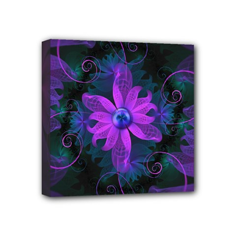 Beautiful Ultraviolet Lilac Orchid Fractal Flowers Mini Canvas 4  X 4  by beautifulfractals