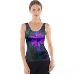 Beautiful Ultraviolet Lilac Orchid Fractal Flowers Tank Top by beautifulfractals
