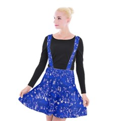 Glossy Abstract Blue Suspender Skater Skirt by MoreColorsinLife