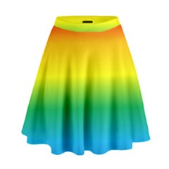 Rainbow High Waist Skirt by TailWags