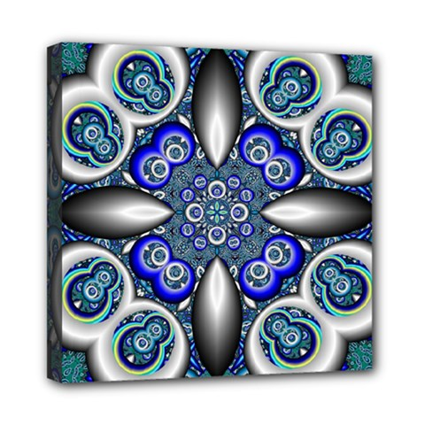 Fractal Cathedral Pattern Mosaic Mini Canvas 8  X 8  by BangZart