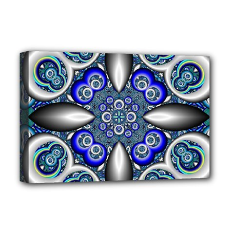 Fractal Cathedral Pattern Mosaic Deluxe Canvas 18  X 12   by BangZart