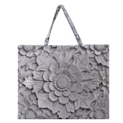 Pattern Motif Decor Zipper Large Tote Bag by BangZart