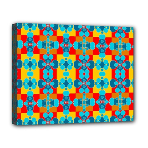 Pop Art Abstract Design Pattern Deluxe Canvas 20  X 16   by BangZart
