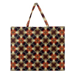 Kaleidoscope Image Background Zipper Large Tote Bag by BangZart