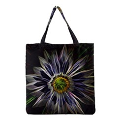 Flower Structure Photo Montage Grocery Tote Bag by BangZart