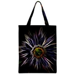 Flower Structure Photo Montage Zipper Classic Tote Bag by BangZart