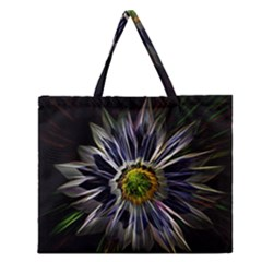 Flower Structure Photo Montage Zipper Large Tote Bag by BangZart