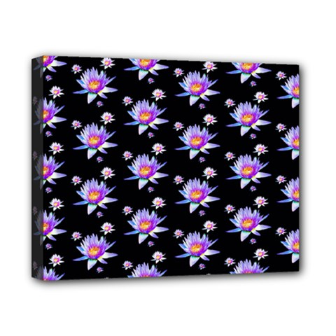 Flowers Pattern Background Lilac Canvas 10  X 8  by BangZart