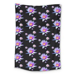 Flowers Pattern Background Lilac Large Tapestry by BangZart