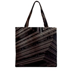 Fractal 3d Construction Industry Zipper Grocery Tote Bag by BangZart