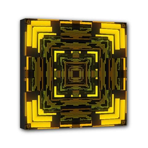Abstract Glow Kaleidoscopic Light Mini Canvas 6  X 6  by BangZart
