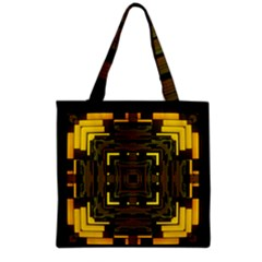 Abstract Glow Kaleidoscopic Light Grocery Tote Bag by BangZart