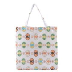 Cute Eggs Pattern Grocery Tote Bag by linceazul