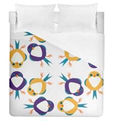 Pattern Circular Birds Duvet Cover (queen Size)