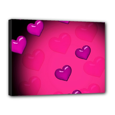 Background Heart Valentine S Day Canvas 16  X 12  by BangZart