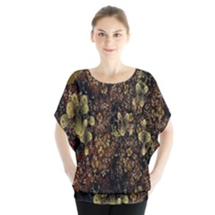Wallpaper With Fractal Small Flowers Blouse