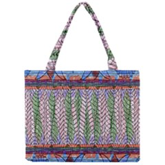 Nature Pattern Background Wallpaper Of Leaves And Flowers Abstract Style Mini Tote Bag by BangZart
