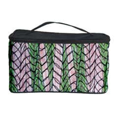 Nature Pattern Background Wallpaper Of Leaves And Flowers Abstract Style Cosmetic Storage Case by BangZart