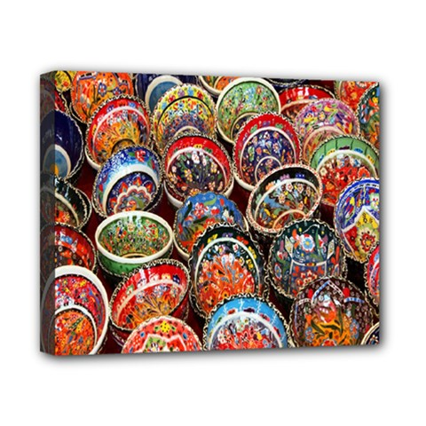Colorful Oriental Bowls On Local Market In Turkey Canvas 10  X 8  by BangZart