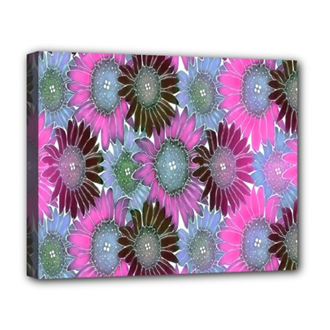 Floral Pattern Background Deluxe Canvas 20  X 16   by BangZart
