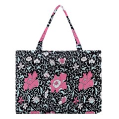 Oriental Style Floral Pattern Background Wallpaper Medium Tote Bag by BangZart