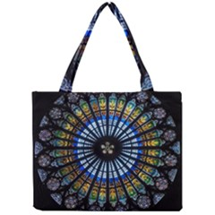 Stained Glass Rose Window In France s Strasbourg Cathedral Mini Tote Bag by BangZart