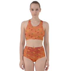 Peach Fruit Pattern Bikini Swimsuit Spa Swimsuit