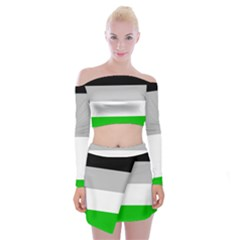 Androphilia Off Shoulder Top with Skirt Set