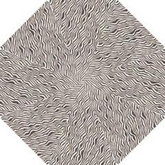 Zebra Pattern Animal Print Hook Handle Umbrellas (small) by paulaoliveiradesign