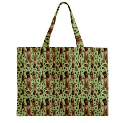 Puppy Dog Pattern Medium Tote Bag by BangZart