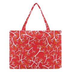 Small Flowers Pattern Floral Seamless Pattern Vector Medium Tote Bag by BangZart