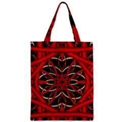 Fractal Wallpaper With Red Tangled Wires Zipper Classic Tote Bag by BangZart