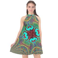 Hot Hot Summer A Halter Neckline Chiffon Dress  by MoreColorsinLife