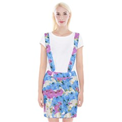 Tulips Flower Pattern Braces Suspender Skirt by paulaoliveiradesign