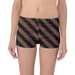 Str3 Bk Mrbl Br Wood (r) Reversible Boyleg Bikini Bottoms by trendistuff