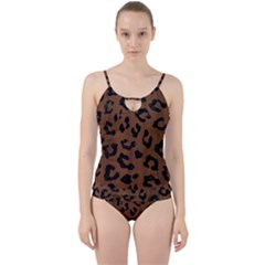 Skin5 Black Marble & Brown Wood Cut Out Top Tankini Set