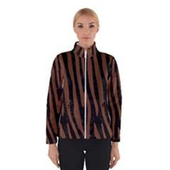 Skin4 Black Marble & Brown Wood (r) Winter Jacket by trendistuff