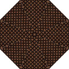 Circles3 Black Marble & Brown Wood (r) Hook Handle Umbrella (large) by trendistuff