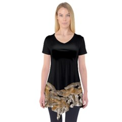 Deathcap Ring Short Sleeve Tunic   Wicked Workwear by valkyrieexclusives