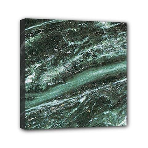 Green Marble Stone Texture Emerald  Mini Canvas 6  X 6  by paulaoliveiradesign