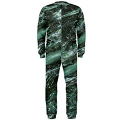 Green Marble Stone Texture Emerald  Onepiece Jumpsuit (men)  by paulaoliveiradesign