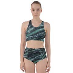 Green Marble Stone Texture Emerald  Bikini Swimsuit Spa Swimsuit  by paulaoliveiradesign