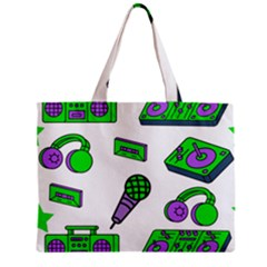 Green Music Pattern Mini Tote Bag by TheLimeGreenFlamingo