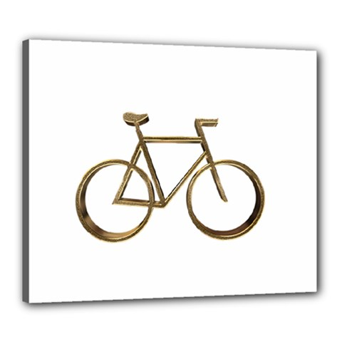 Elegant Gold Look Bicycle Cycling  Canvas 24  X 20  by yoursparklingshop