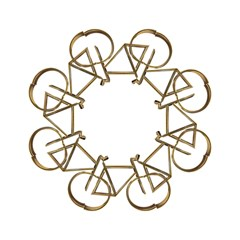 Elegant Gold Look Bicycle Cycling  Hook Handle Umbrellas (large) by yoursparklingshop